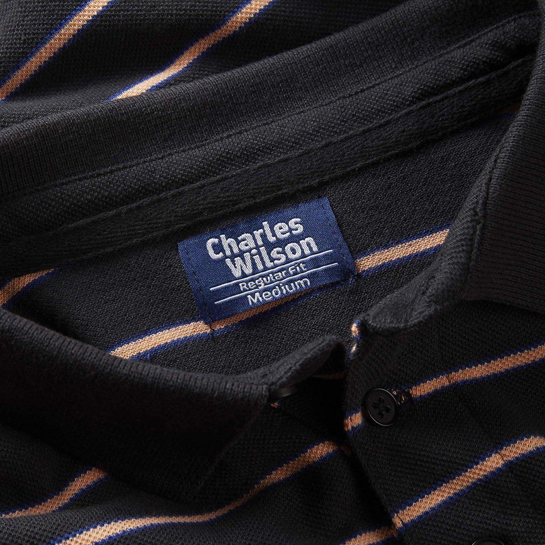 Charles Wilson Striped Pique Polo Shirt