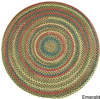 product image for Rhody Rug Charisma Indoor/Outdoor 4 ft Round Braided Rug by Emerald