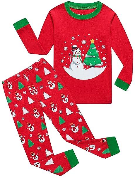 Toddler Boy Christmas Pajamas.Boys Christmas Pajamas For Girls Santa Tree Sleepwear Toddler Children Snowman Clothes