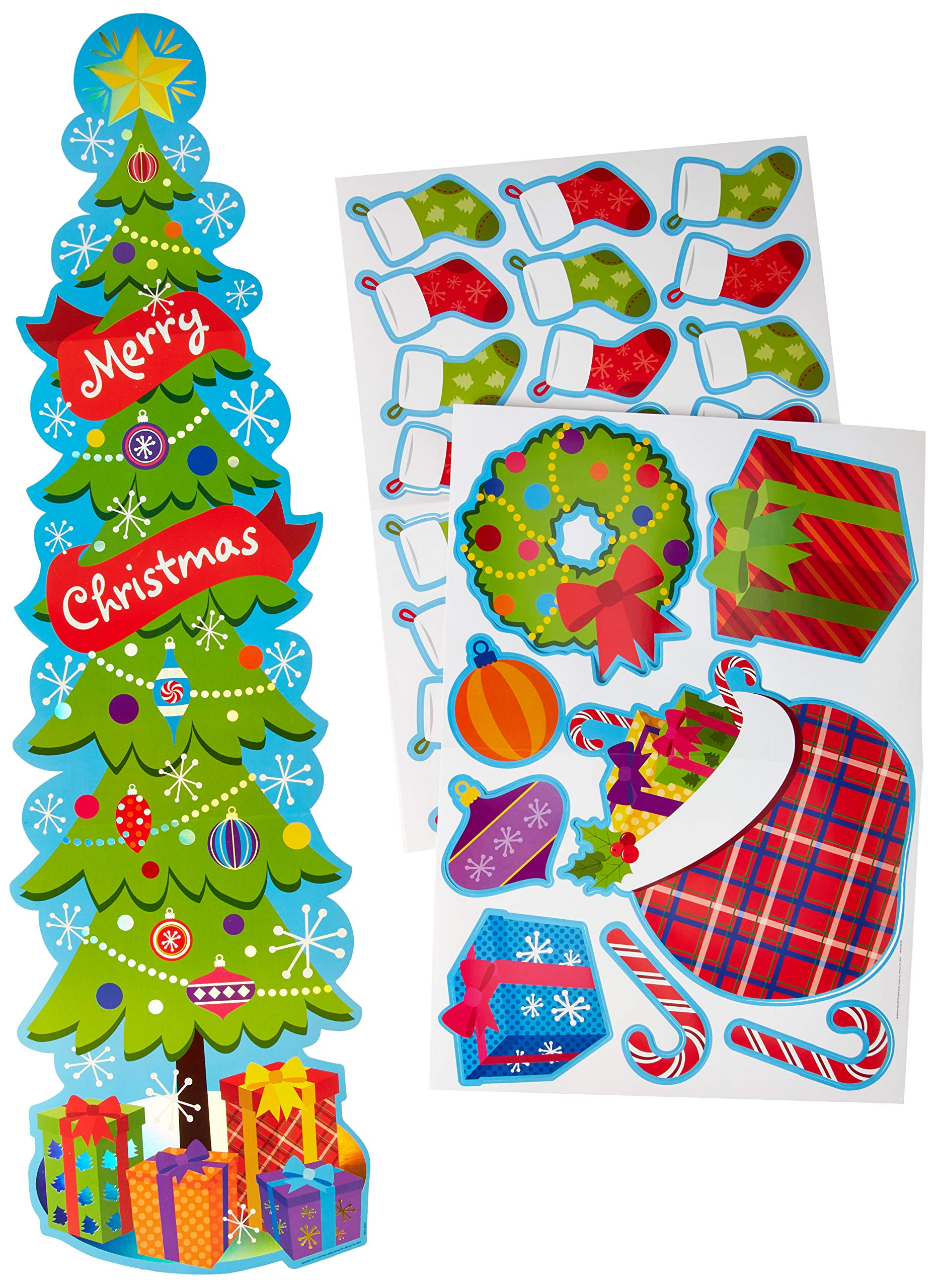 EUREKA Christmas and Holiday Season School and Classroom Door Décor Kit, 33pc by EUREKA