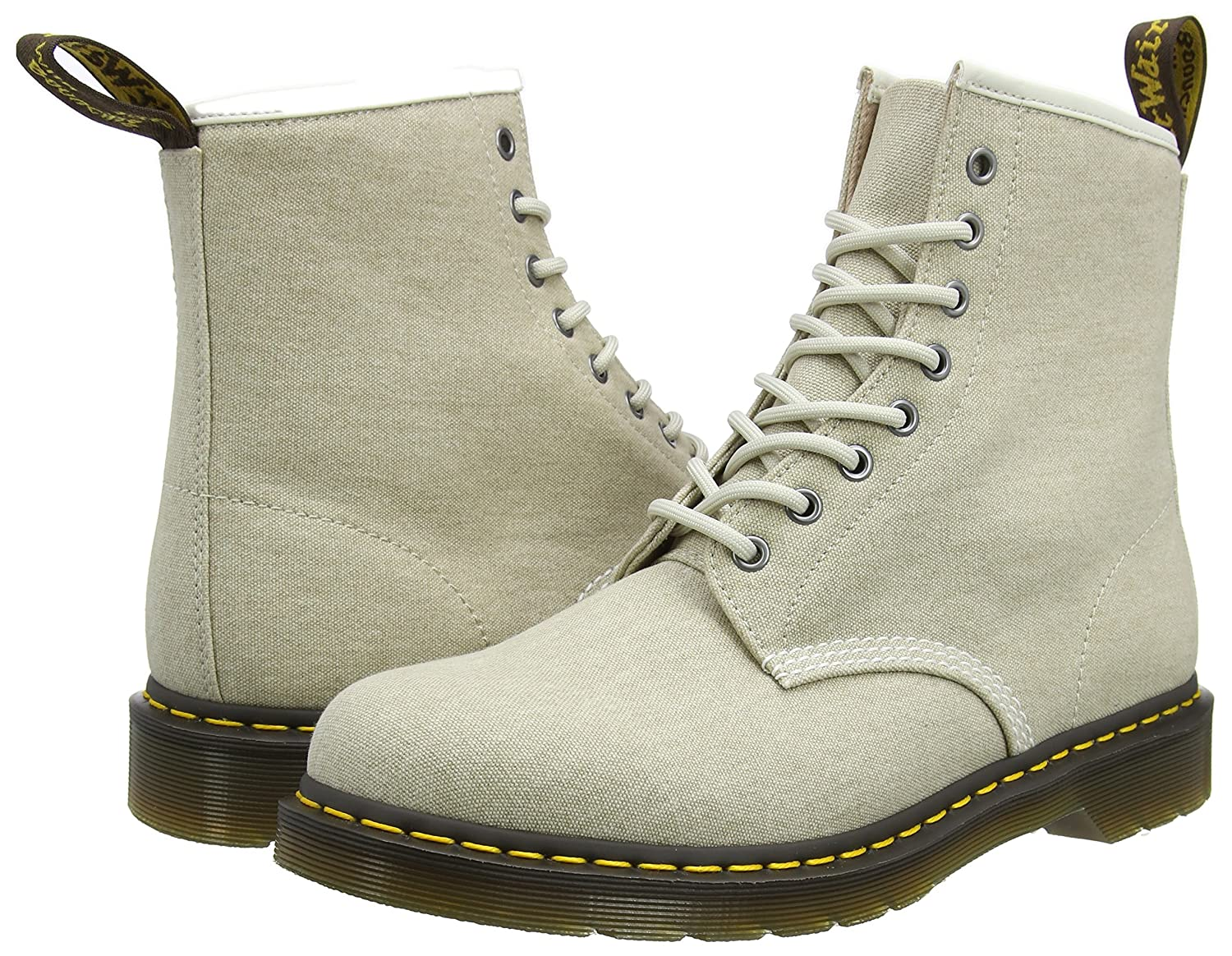 Dr. Martens Men's 1460 Combat Boot, 8.5 B(M) US Women/7.5 D(M) US Men B01ICEHHL0 8 F(M) UK / 10 B(M) US Women / 9 D(M) US Men|Bone Washed Canvas