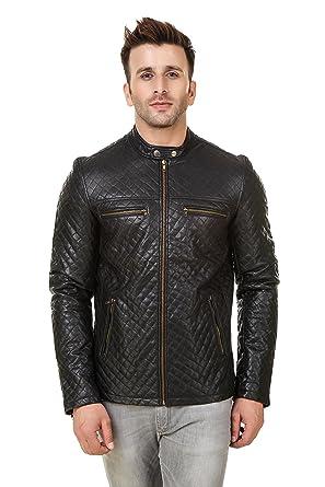 5449708c8 REXBURG Boys/Men/Gents Slim Fit Faux Leather Winter Jacket.: Amazon ...