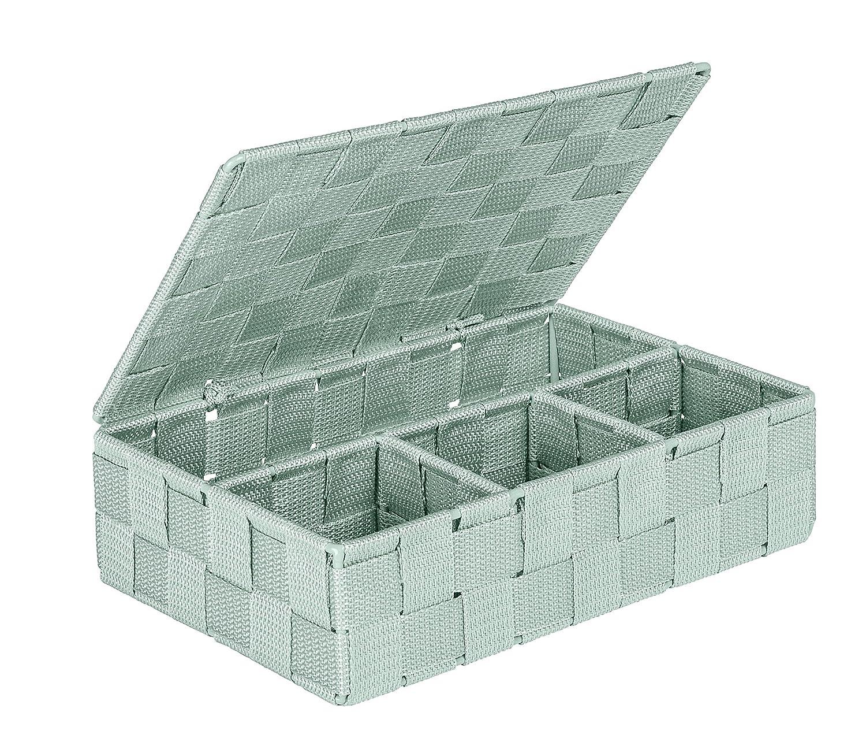 Wenko Adria Storage Basket with Lid, Taupe 22575100