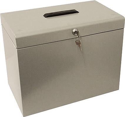 Cathedral Metal Box - Caja archivadora para fichas A4, gris ...