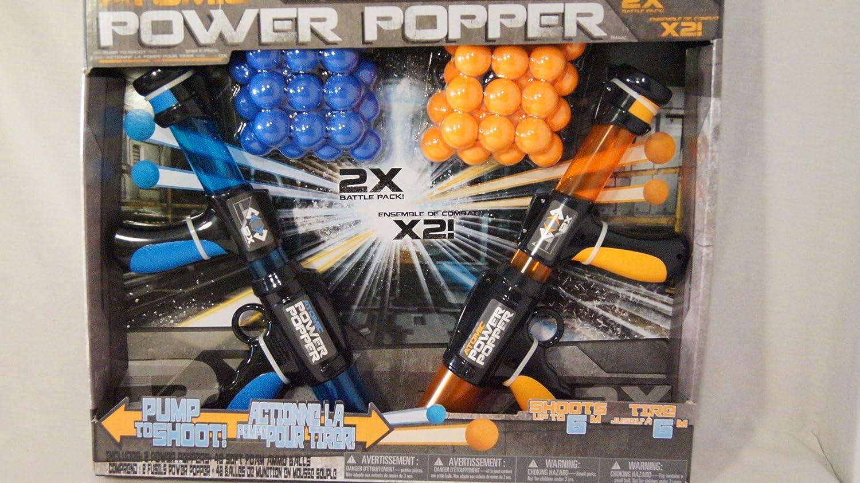 ATOMIC POWER POPPER【パワーポッパー2丁セット/バトルパック】ソフトボール48球付き/シューティングトイ   B01LBMOT5C