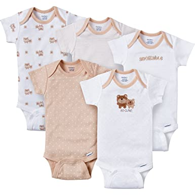 248b71a83 Gerber Baby-Boys Variety Onesies Brand Bodysuits, Adorable Bears, Newborn  (Pack of