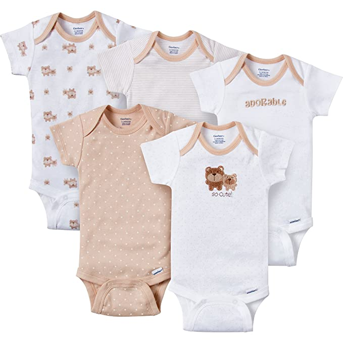 24858837b Image Unavailable. Image not available for. Color: Gerber Baby-Boys Variety  Onesies Brand Bodysuits ...
