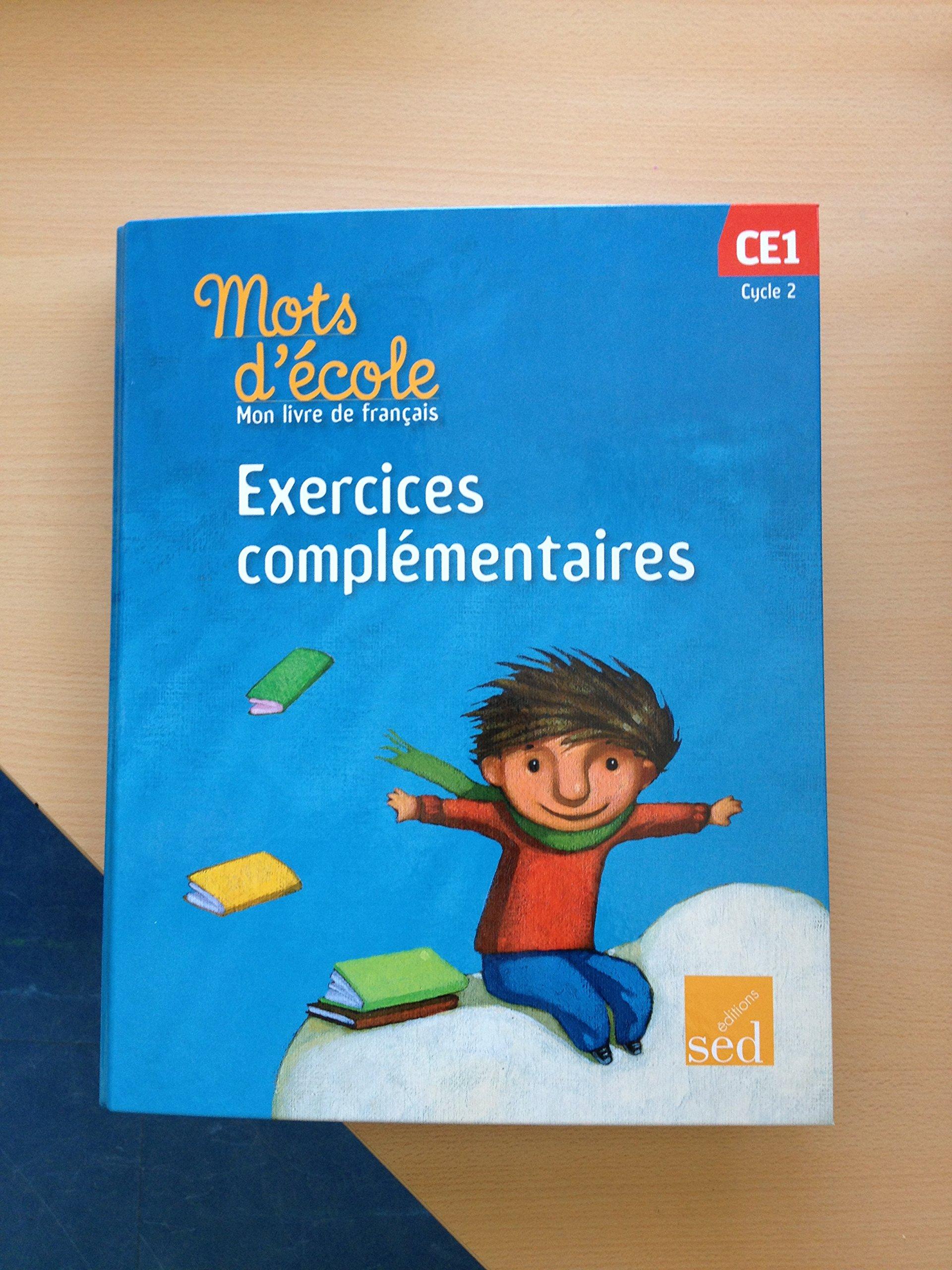 Mots D Ecole Mon Livre De Francais Ce1 Cycle 2 Exercices