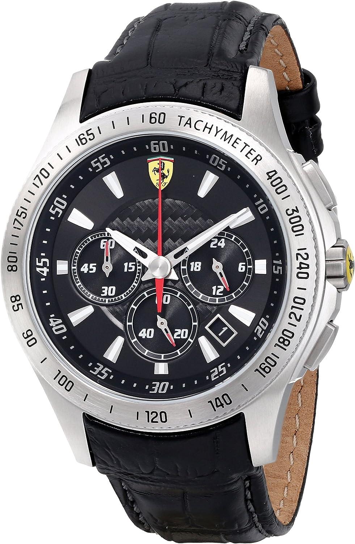 Ferrari Men s 0830039 Scuderia Analog Display Quartz Black Watch
