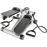 Andrew James Aerobic Exercise Stepper Machine with Resistance Bands for Cardio & Toning Exercises - Adjustable Step Tension with Digital Counter & Calories Burned Display