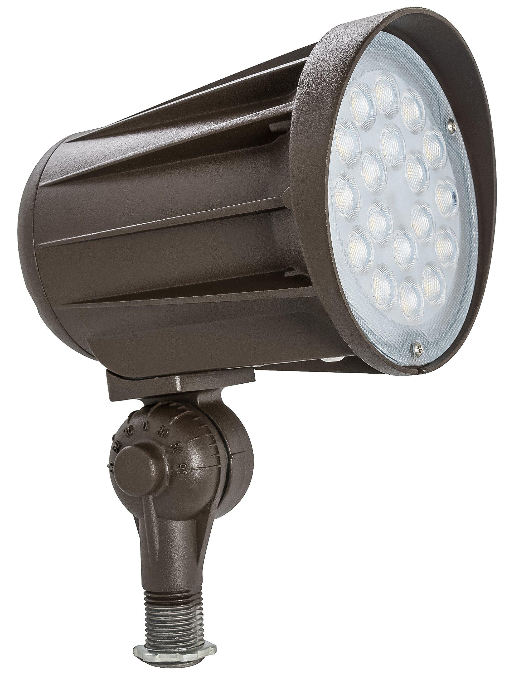 Westgate Lighting LED Outdoor Landscape Garden Bullet Flood Lights - Path Walkway Lawn Spotlights - Knuckle Mount - IP65 Waterproof - High Lumen - UL/DLC Listed - 120-277V (42W, 5000K knuckle)
