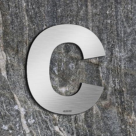 qobobo® Letra Casa c Número Vivienda Calle de 304 Acero Inoxidable , 155mm