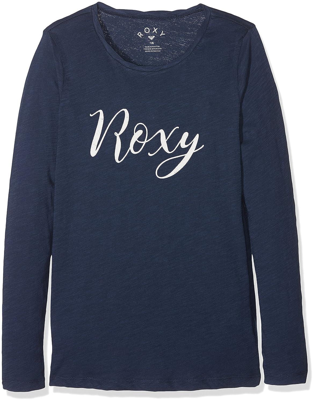Roxy Gradual Awakening B Camiseta de Manga Larga, Niñas, Azul (Dress Blues Solid), 16/XXL Quiksilver ERGZT03216