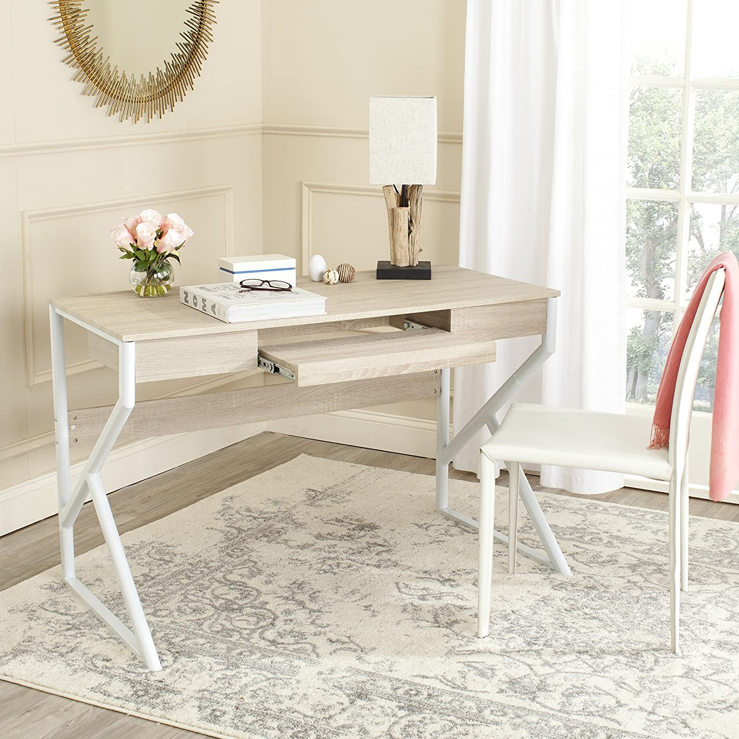 Safavieh Home Collection Bryant Natural and White Computer Desk