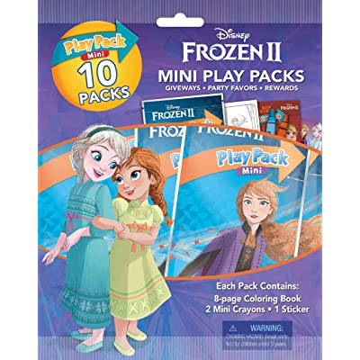 Disney Frozen 2 Mini Play Packs 10-Pack with Crayons and Stickers 45816: Toys & Games
