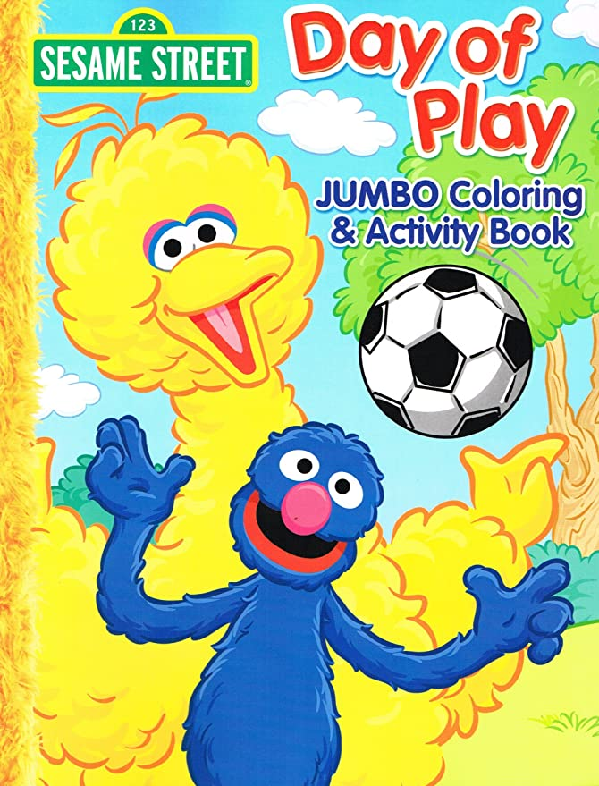 Amazon.com: Sesame Street Elmo Jumbo Coloring Book - Day of Play ...