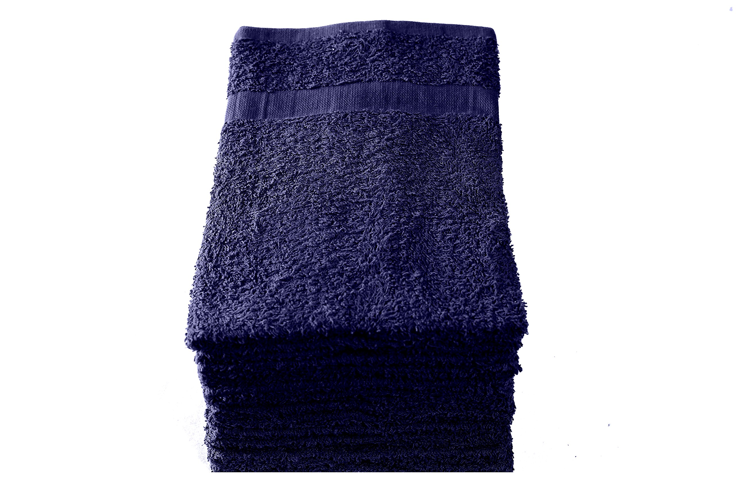 Heritage Linen Cotton Salon Towels - Spa Towels - Gym Towels - Hand Towels (24-Pack, Navy Blue, 15x25 inches) - Ringspun Cotton, Soft & Absorbent, Quick Dry by