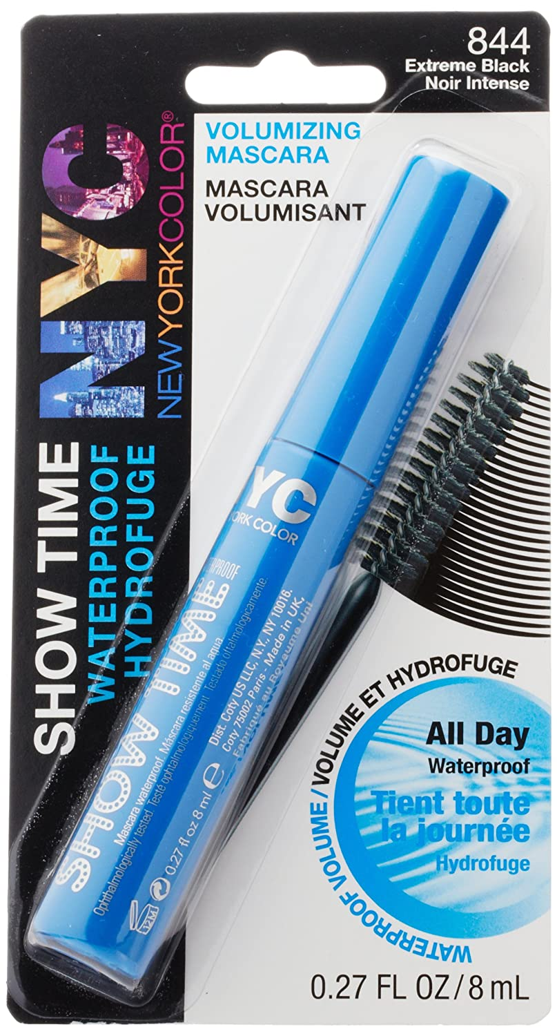 Amazon.com : New York Color Mascara Show Time Volumizing Waterproof Mascara, Extreme Black, 0.27 Fluid Ounce (Pack of 2) : Beauty
