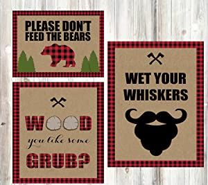 Silly Goose Gifts Lumberjack Camping Outdoor Themed Party Food Table Decorations