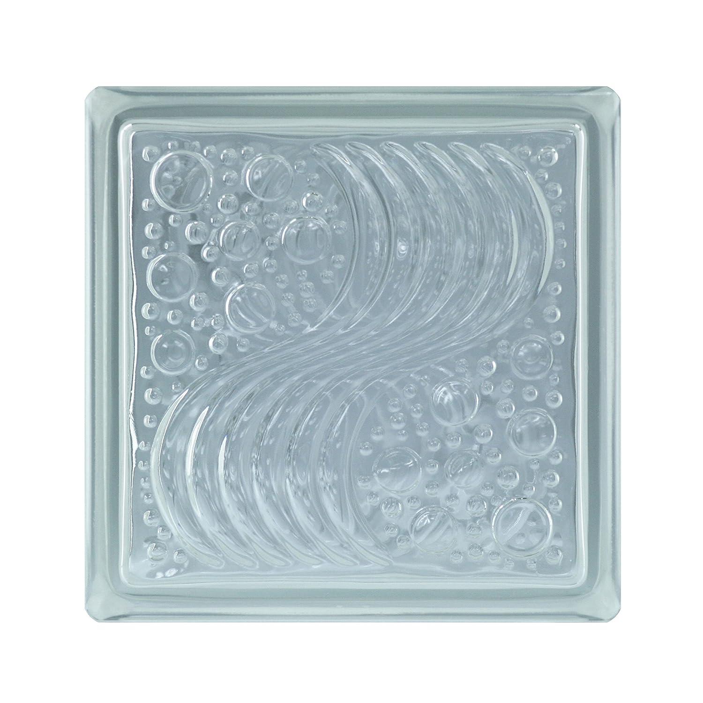 6 piezas BM bloques de vidrio surf SUPER white 19x19x8 cm