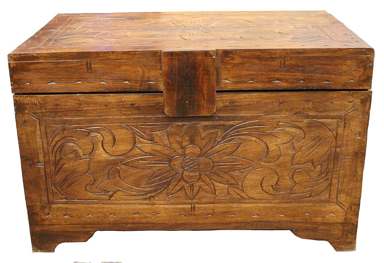 Wohnkult Truhe aus Palmenholz 60 cm Kiste Deko Schatztruhe Aufbewahrung Box