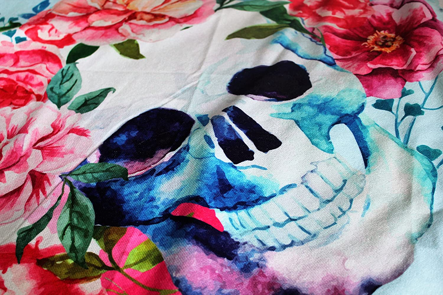 Amazon.com: Skull Thick Round Beach Towel Blanket | Throw Indian ...