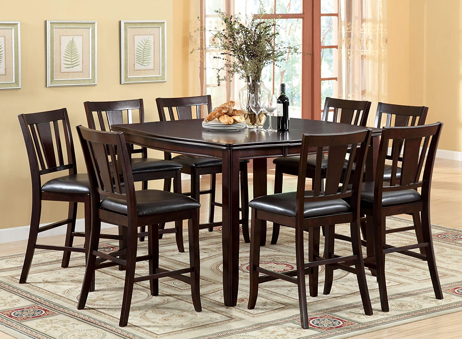 Terrific Furniture Of America Anlow Counter Height Table With 16 Inch Expandable Leaf Espresso Finish Short Links Chair Design For Home Short Linksinfo