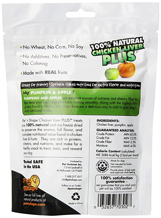 Pet N Shape Freeze Dried Chicken Liver Plus Treats For Dogs