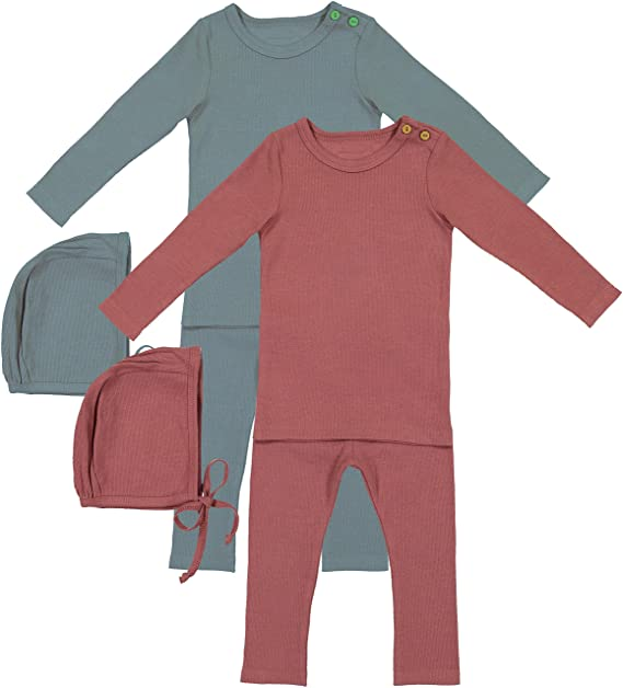 e060e39944166 Amazon.com: Lil Legs Boys Girls Unisex Baby Ribbed Outfit: Clothing