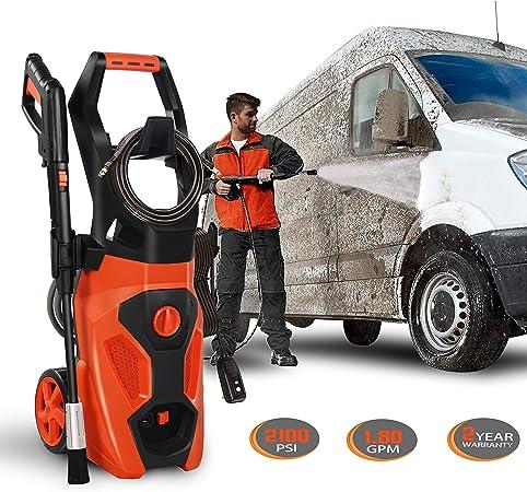 Amazon.com: ENSTVER - Limpiador de presión eléctrico 2100PSI ...