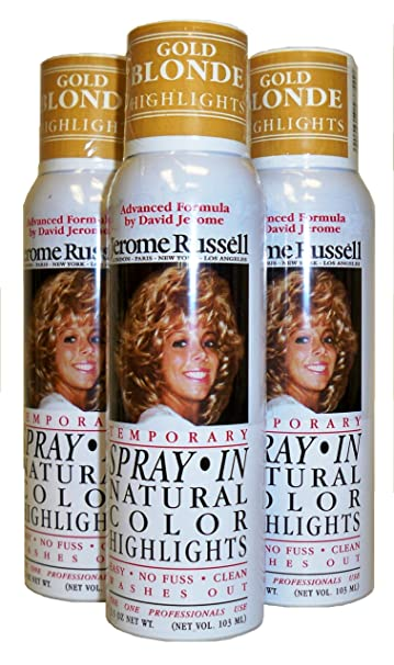 Jerome Russell Temporary Hair Color Spray Highlights - Shampoos Out - 3  Cans for 1 Low Price!...