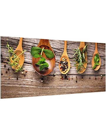 Bilderwelten Panel antisalpicaduras de Cristal - Herbs and Spices - Horizontal 1:2, Panel