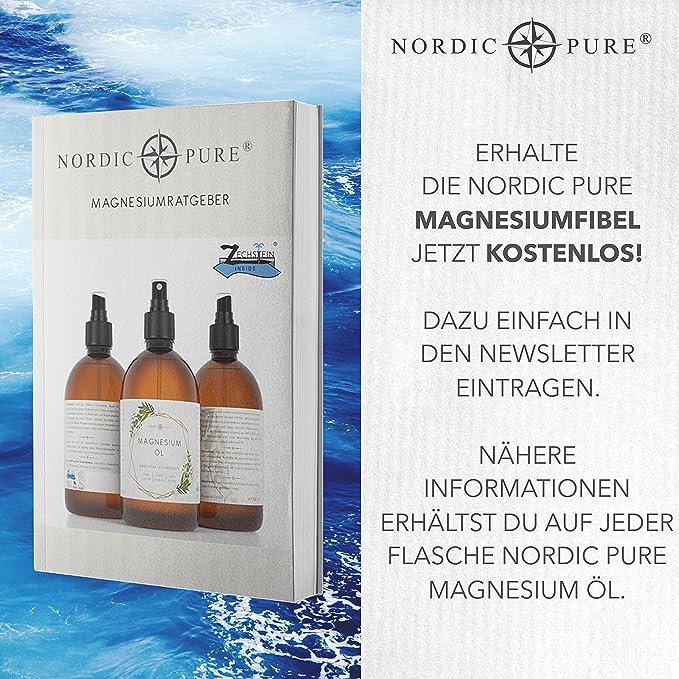 magnesiumöl deNordic Pure | de Original ZECH piedra Inside Cloruro de magnesio Sole | Natural como Magnesio Spray para la aplicación kinderleichten: ...