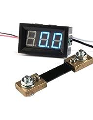 """GEREE Blue Digital Ammeter LED Display 0.56"""" Digital DC 0-100A Ammeter Amp Ampere Meter Connect with 100A/75mV Ammeter Shunt"""