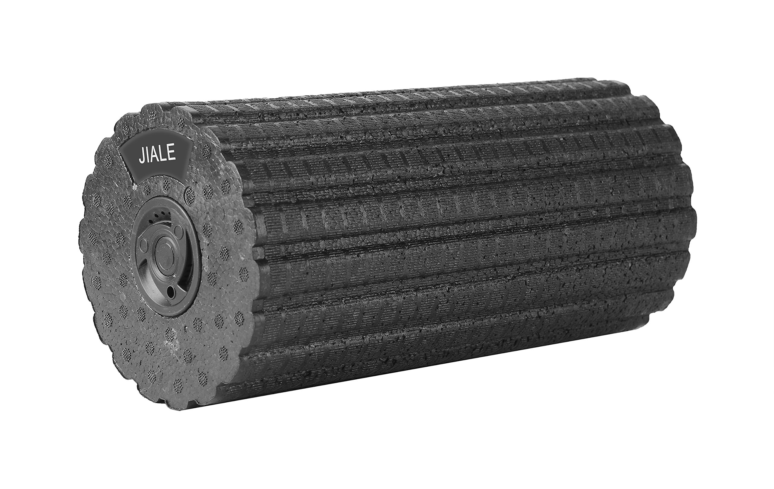 Vibrating Foam Roller 4 Speed Rechargeable Firm Foam Roller By JIALE, Deep Tissue Massager For Exercise, Yoga, Trigger Point, Cycling, Running, Stretching, Muscle Therapy