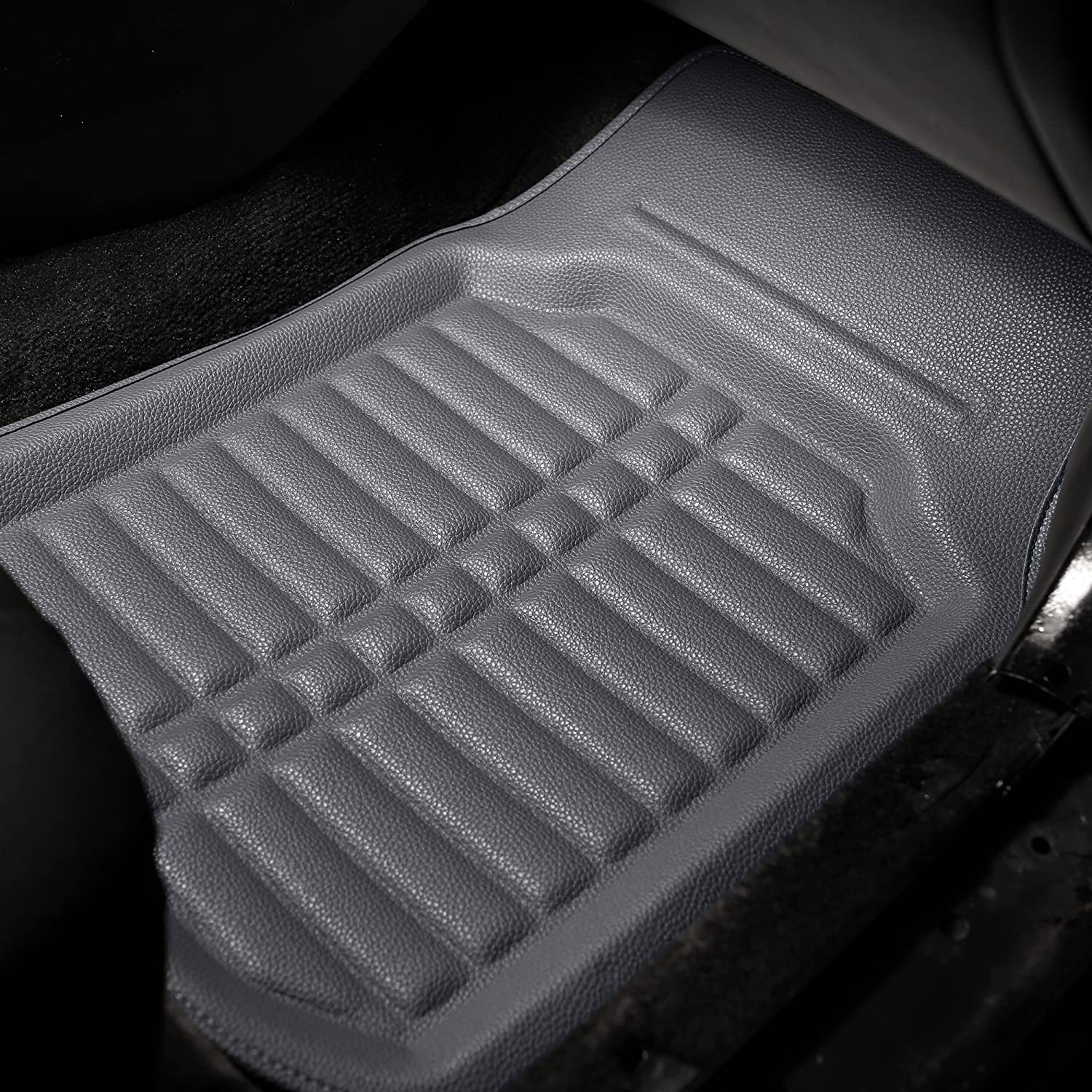 FH Group Tray Style Car Mats F14409REDBLACK Deep Tray All Weather Floor Mats 4 Piece