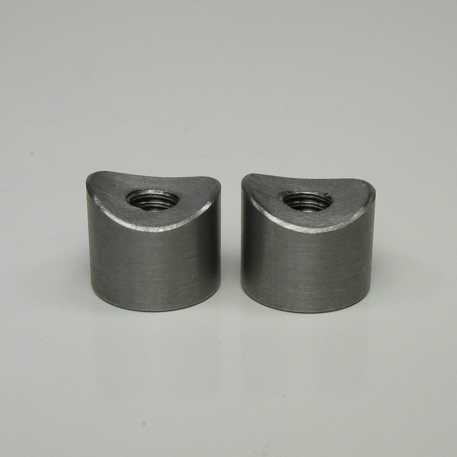 Fabrication Parts DIY Motorcycle Chopper Bobber Cafe Racer Builder Billet Proof Designs 22MM/_BNG/_ST 5//16-18 SHORT Coped Steel Bungs Fits 1 to 1-1//4 Round Tubing QUANTITY OF 2 MADE IN THE USA