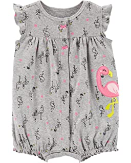 Carters Baby Girls Striped Cupcake Snap Up Romper