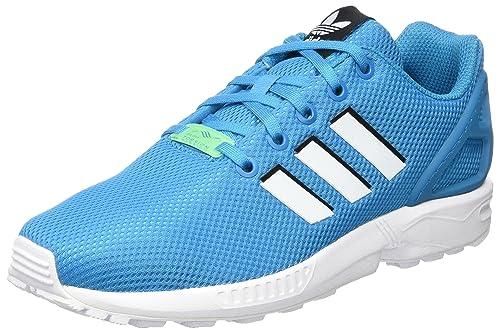 buy online e3ad0 6a2c2 adidas Zx Flux J, Scarpe da Ginnastica Basse Unisex-Bambini, Blu (Bold