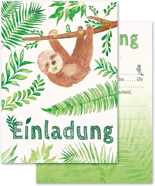 Any Age Art Faultiere Einladungskarten mit Umschl/ägen Set 12 Kindergeburtstag Einladungen Kinder M/ädchen Geburtstag Karten Feier Party Game