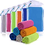 """Willceal Cooling Towel, Cool Towel for Instant Cooling Relief,40"""" 12"""",for Sports, Workout, Travel, Fitness, Gym, Yoga, Pilates, Camping & More"""