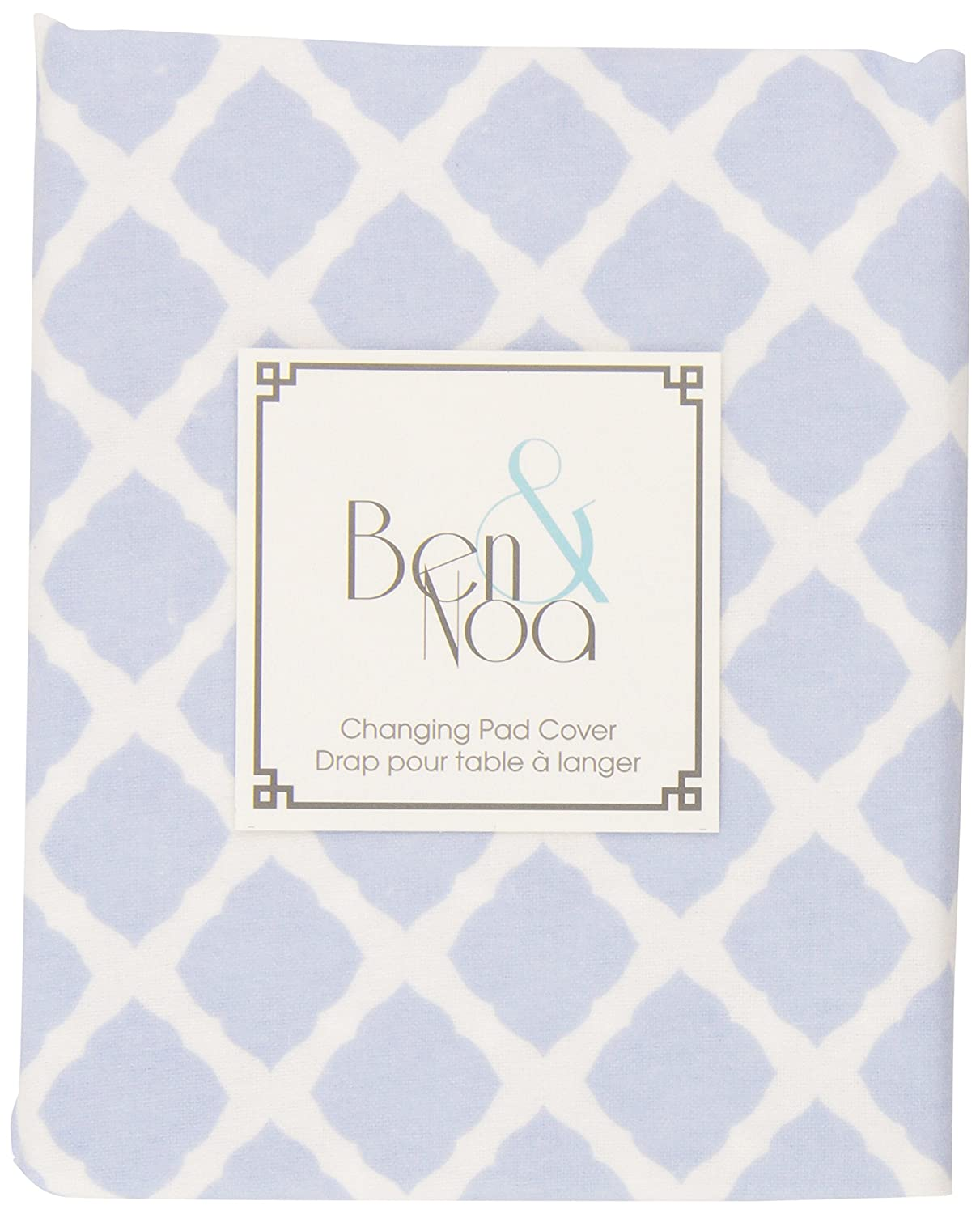 Ben /& Noa Flannel Fitted Change Pad Sheet with Slits for Safety Straps Pink Lattice