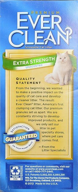Amazon.com : Ever Clean Extra Strong Unscented Cat Litter, 14-Pound : Pet Litter : Pet Supplies