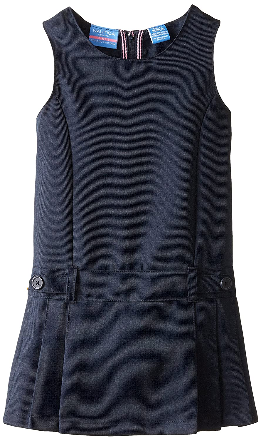 Nautica girls Poly Jumper with Waist Tabs (Little Kids) Nautica Girls 2-6x NCG0230P-414