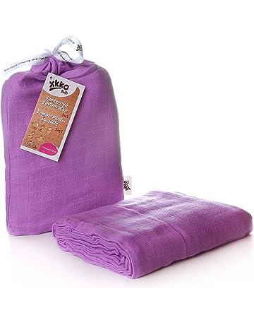 Easy Niños Ideas bmb12 0021 a Bamboo muselina paños, púrpura