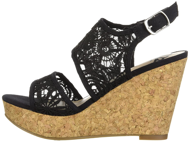 Fergalicious Women's Krazy Wedge Sandal B0761742HP 7.5 B(M) US|Black