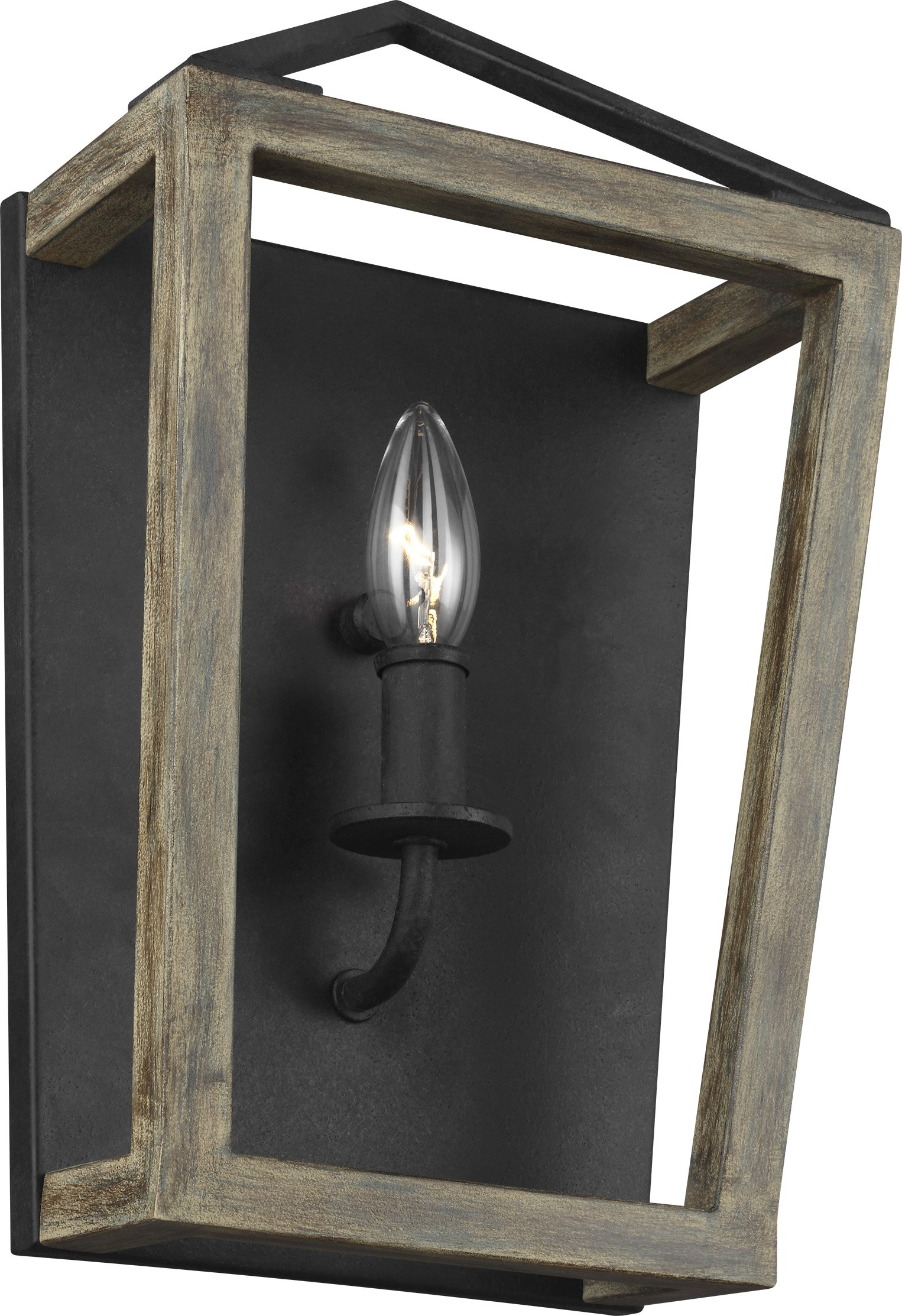 Feiss WB1877WOW/AF Gannet Wall Sconce Candle Lighting, Brown, 1-Light (9''W x 14''H) 60watts