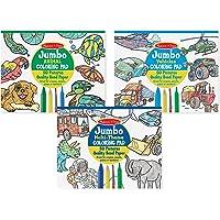 Melissa & Doug Boys Animals, Vehicles & Multi-Theme Coloring Pad Bundle