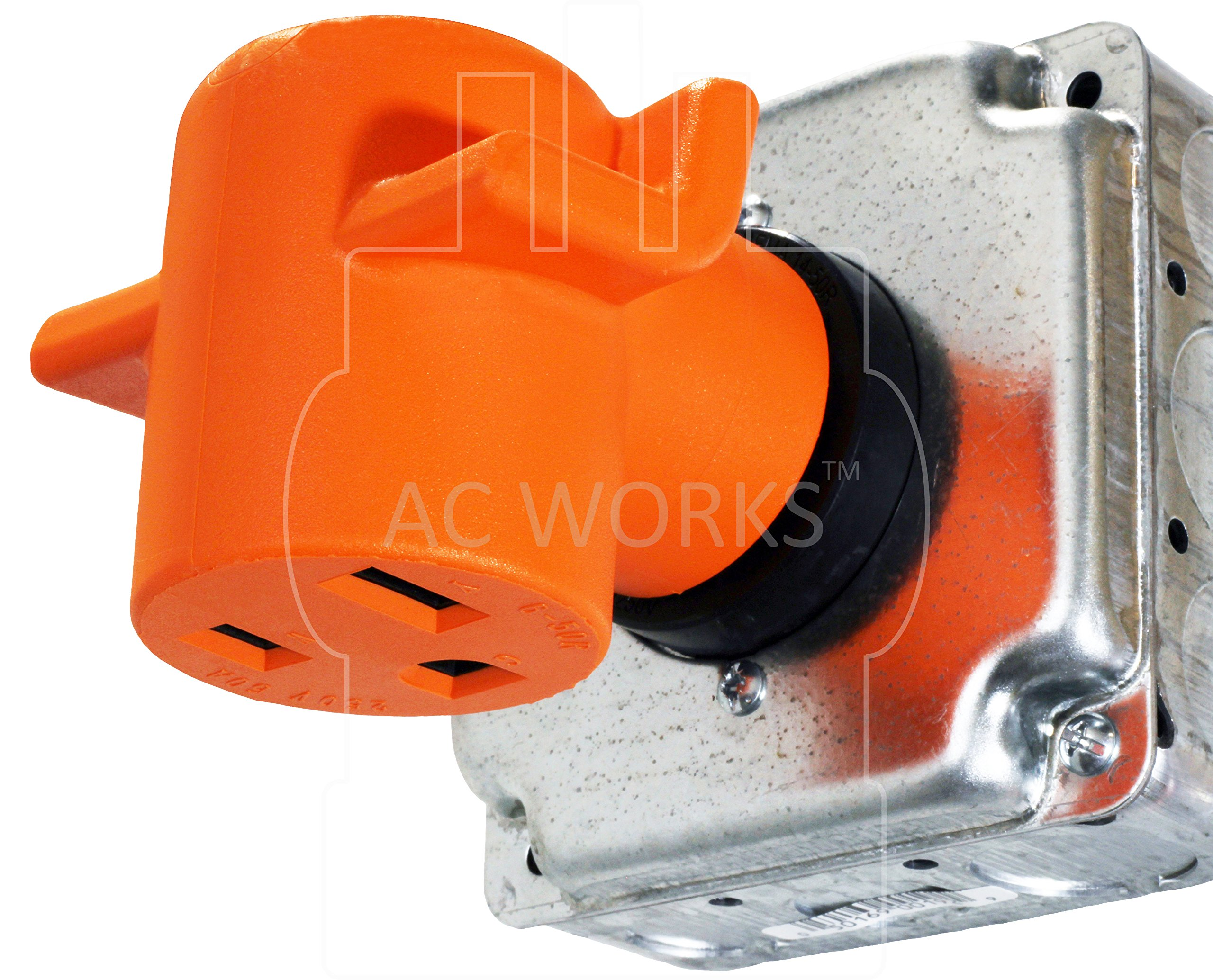 AC WORKS [WD1030650] NEMA 10-30 3-Prong Dryer Plug to 6-50 Welder Adapter by AC WORKS (Image #6)