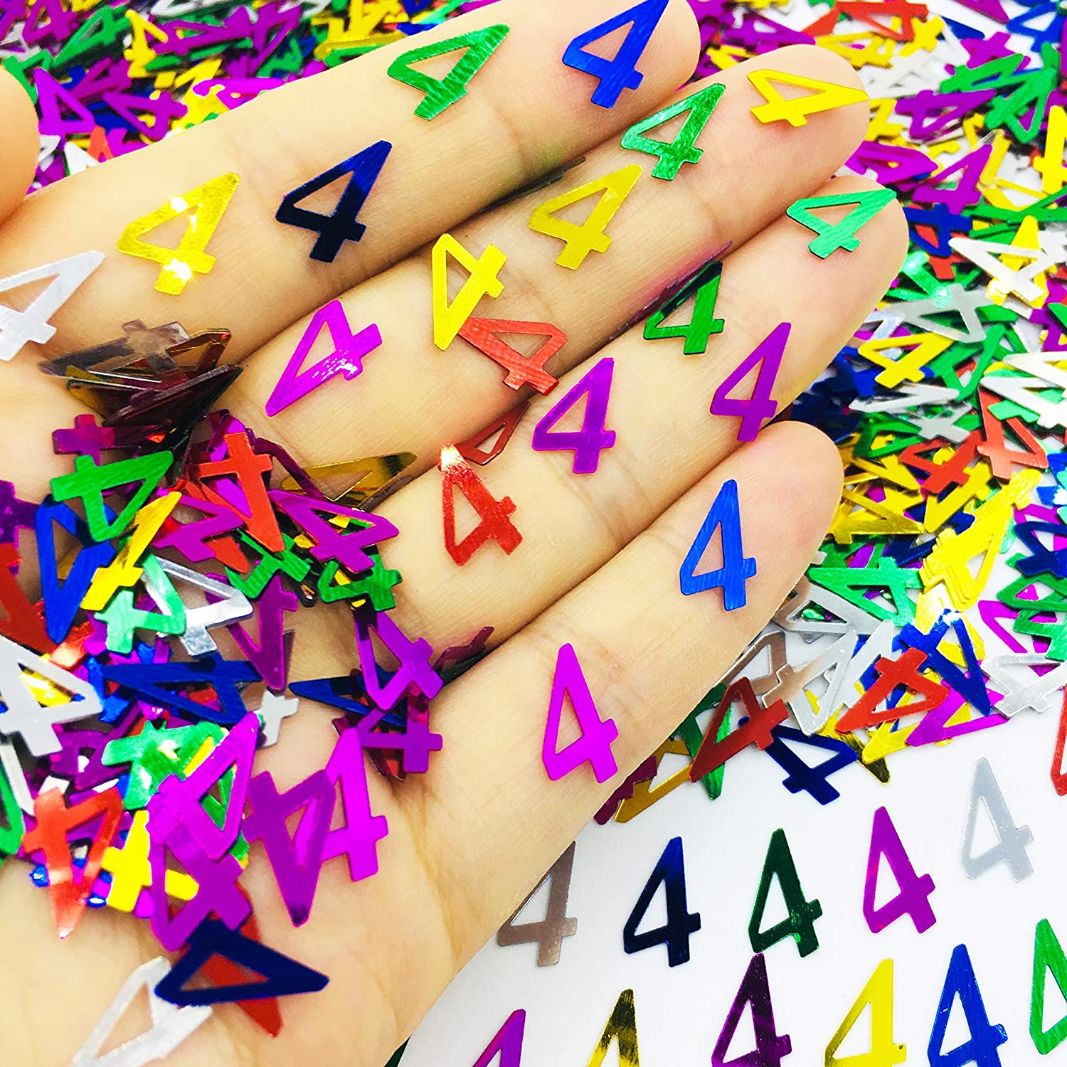 20 Colourful Glittery Foil Number 40 Confetti Pieces Birthday Party Decor Anniversary Card-making Kids Decoration Boy Girl Table Number